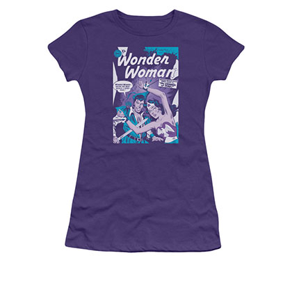 Wonder Woman Human Shield Purple Juniors T-Shirt