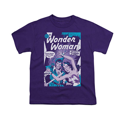 Wonder Woman Human Shield Purple Youth Unisex T-Shirt