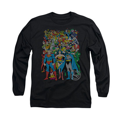 Justice League Original Universe Black Long Sleeve T-Shirt