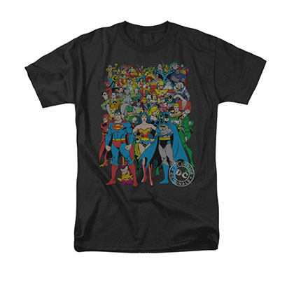DC Comics Original Universe Black T-Shirt