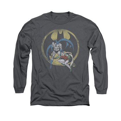 Batman Team Gray Long Sleeve T-Shirt