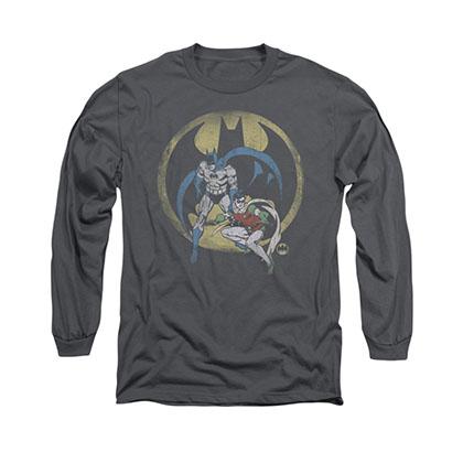Batman Team Gray Long Sleeve T-Shirt