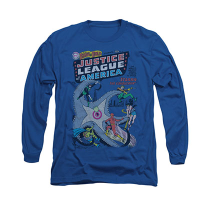 Justice League America No. 28 Blue Long Sleeve T-Shirt