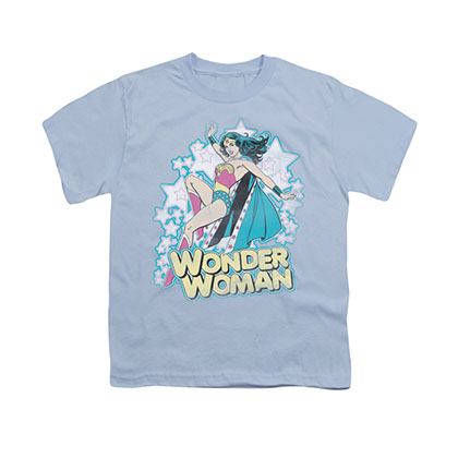 Wonder Woman Flying Blue Youth Unisex T-Shirt