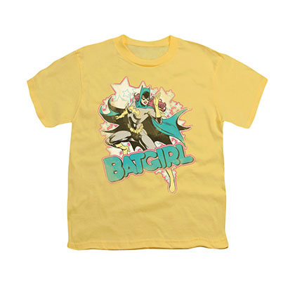 Batman Batgirl Yellow Youth Unisex T-Shirt