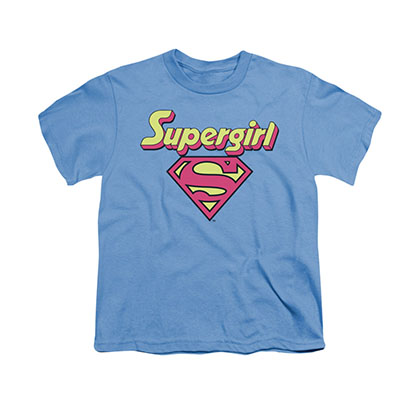 Superman Supergirl Logo Blue Youth Unisex T-Shirt