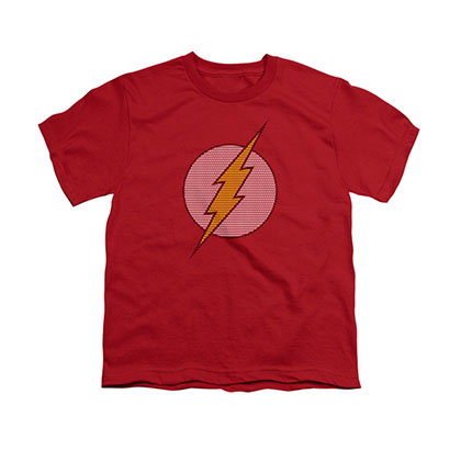 The Flash Little Logos Red Youth Unisex T-Shirt