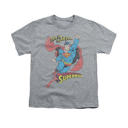 Superman On The Job Gray Youth Unisex T-Shirt