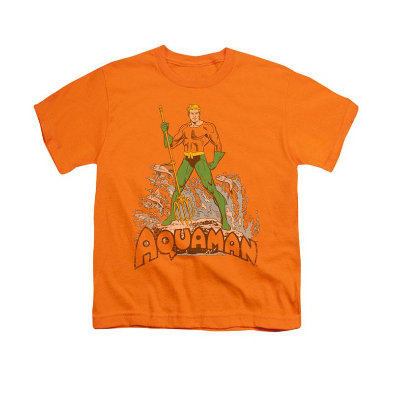 Aquaman Distressed Orange Youth Unisex T-Shirt
