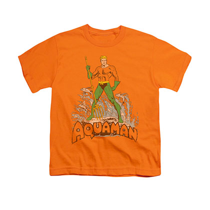 Aquaman Distressed Orange Youth Unisex T-Shirt