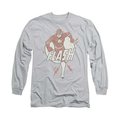 The Flash Lightning Fast Gray Long Sleeve T-Shirt