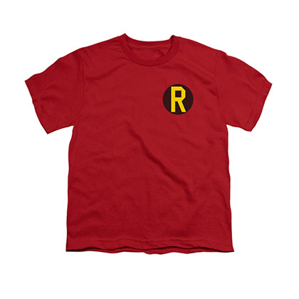 Batman Robin Logo Red Youth Unisex T-Shirt