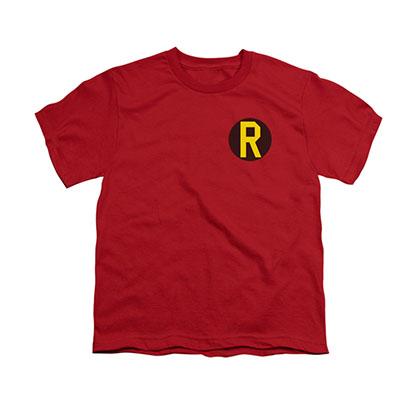 Batman Robin Logo Red Youth Unisex T-Shirt