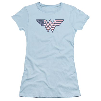 Wonder Woman American Flag Logo Women's Shirt
