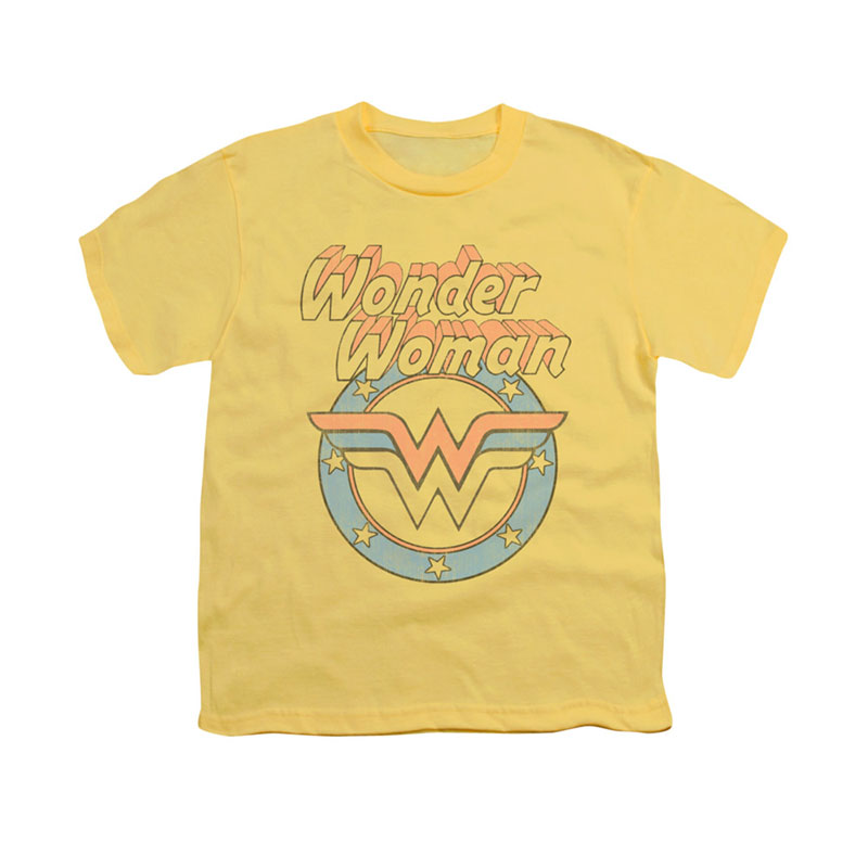Wonder Woman Faded Yellow Youth Unisex T-Shirt