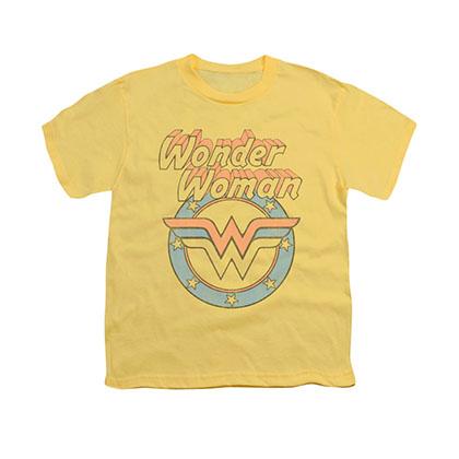 Wonder Woman Faded Yellow Youth Unisex T-Shirt