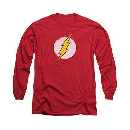 The Flash Rough Logo Red Long Sleeve T-Shirt