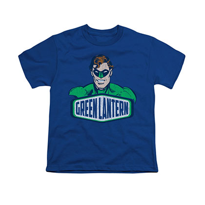Green Lantern Sign Blue Youth Unisex T-Shirt