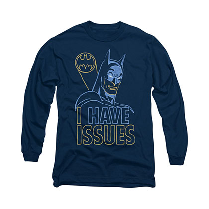 Batman I Have Issues Blue Long Sleeve T-Shirt