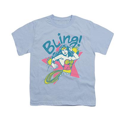 Wonder Woman Bling Blue Youth Unisex T-Shirt