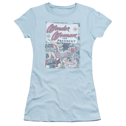 Wonder Woman For President Women's Blue Tshirt