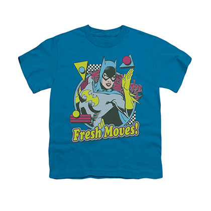 Batman Batgirl Fresh Moves Blue Youth Unisex T-Shirt