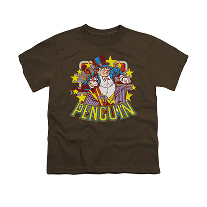 Batman Penguin Brown Youth Unisex T-Shirt