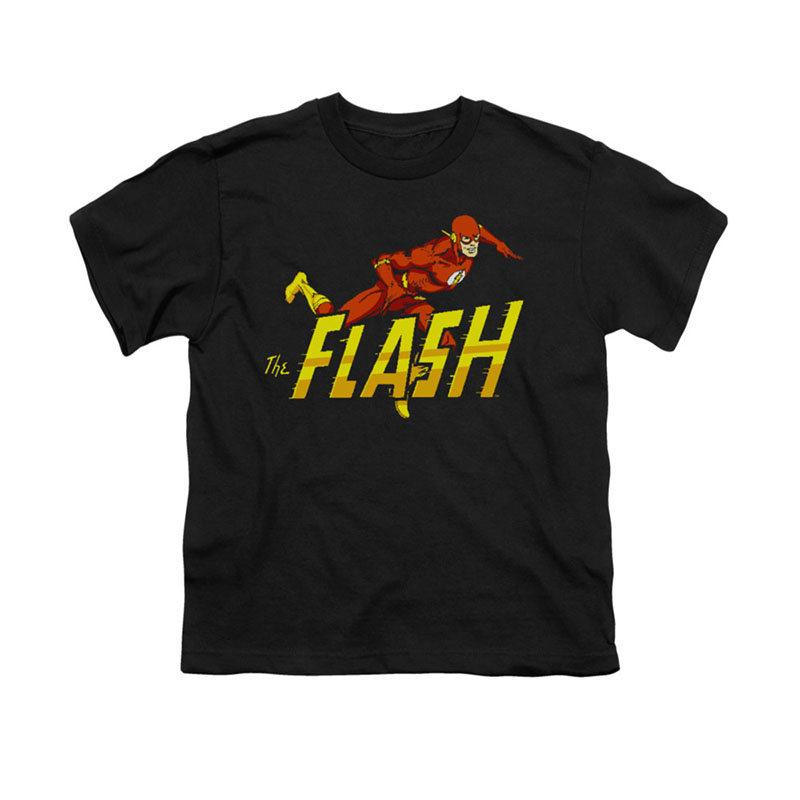 The Flash 8-Bit Black Youth Unisex T-Shirt