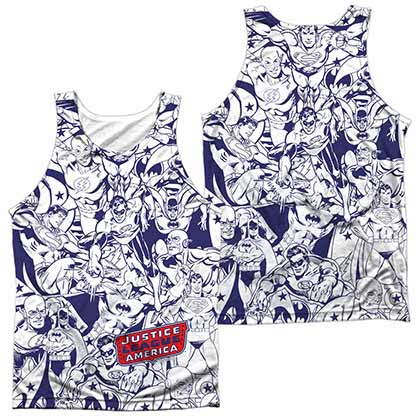 DC Justice All Around Sublimation Tank Top