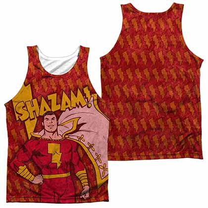 DC Shazam Bolts Sublimation Tank Top