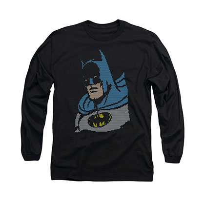 Batman Lite Brite Black Long Sleeve T-Shirt