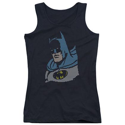 Batman Lite Brite Black Juniors Tank Top