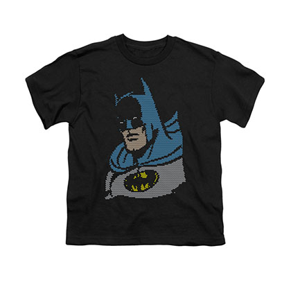Batman Lite Brite Black Youth Unisex T-Shirt