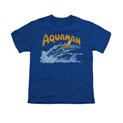 Aquaman Swim Blue Youth Unisex T-Shirt