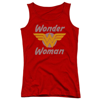 Wonder Woman Wings Logo Red Juniors Tank Top