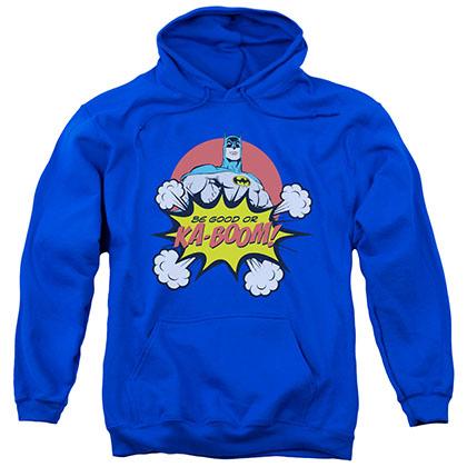 Batman Be Good Or Kaboom Christmas Blue Pullover Hoodie