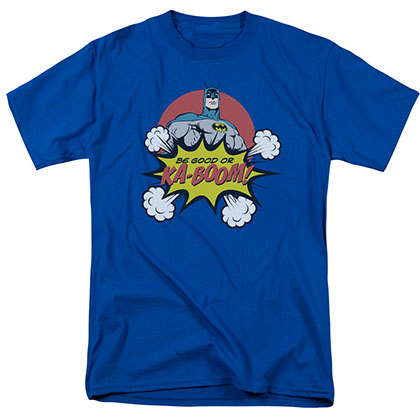 Batman Be Good Or Kaboom Christmas Blue T-Shirt