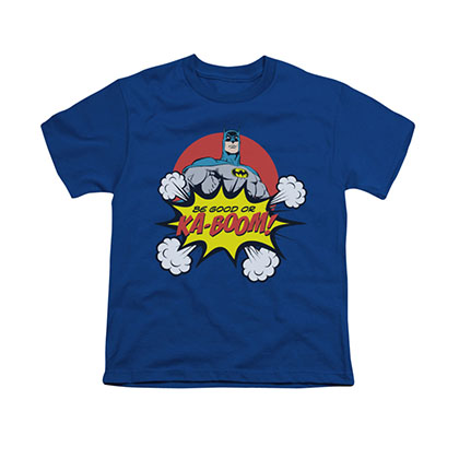 Batman Ka-Boom Blue Youth Unisex T-Shirt