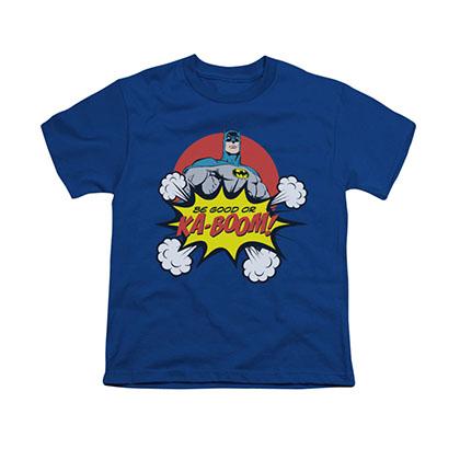 Batman Ka-Boom Blue Youth Unisex T-Shirt