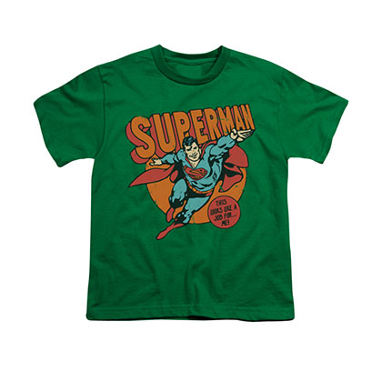 Superman Job For Me Green Youth Unisex T-Shirt