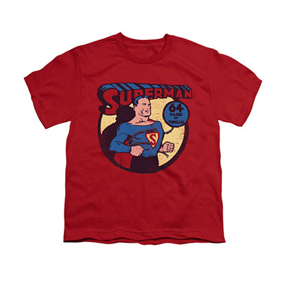 Superman 64 Pages Red Youth Unisex T-Shirt