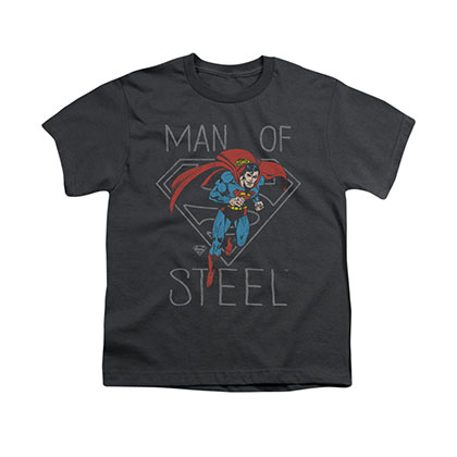 Superman Man Of Steel Hardened Gray Youth Unisex T-Shirt