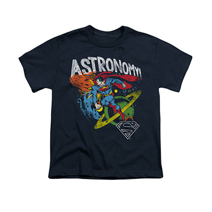 Superman Astronomy Blue Youth Unisex T-Shirt