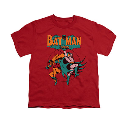 Batman Starling Shock Red Youth Unisex T-Shirt