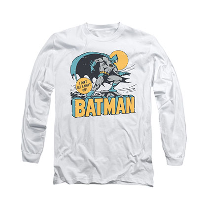 Batman Night Out White Long Sleeve T-Shirt