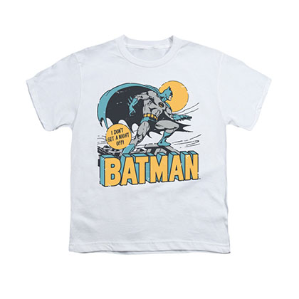 Batman Night Off White Youth Unisex T-Shirt