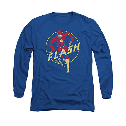 The Flash Circle Comics Blue Long Sleeve T-Shirt