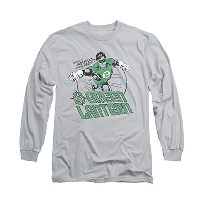 Green Lantern Cosmic Hero Gray Long Sleeve T-Shirt