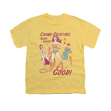 Wonder Woman Paper Doll Yellow Youth Unisex T-Shirt