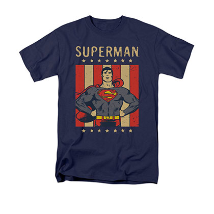 Superman Retro Liberty Blue T-Shirt